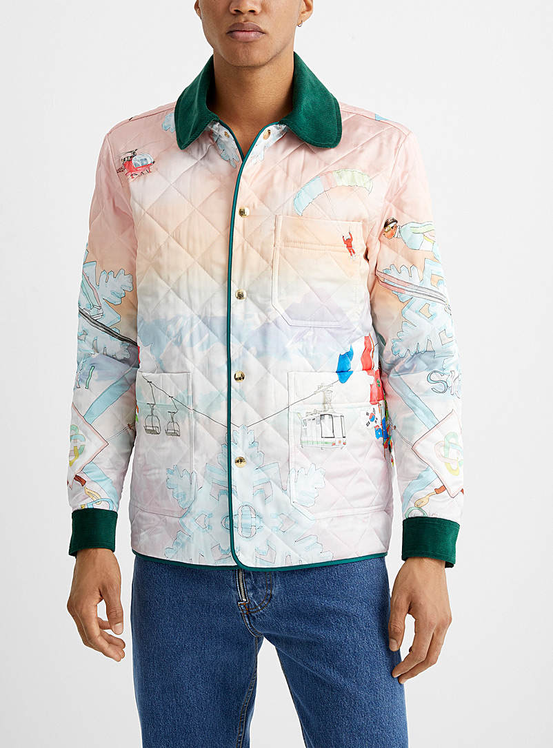 Casablanca Assorted Quilted ski club jacket for men
