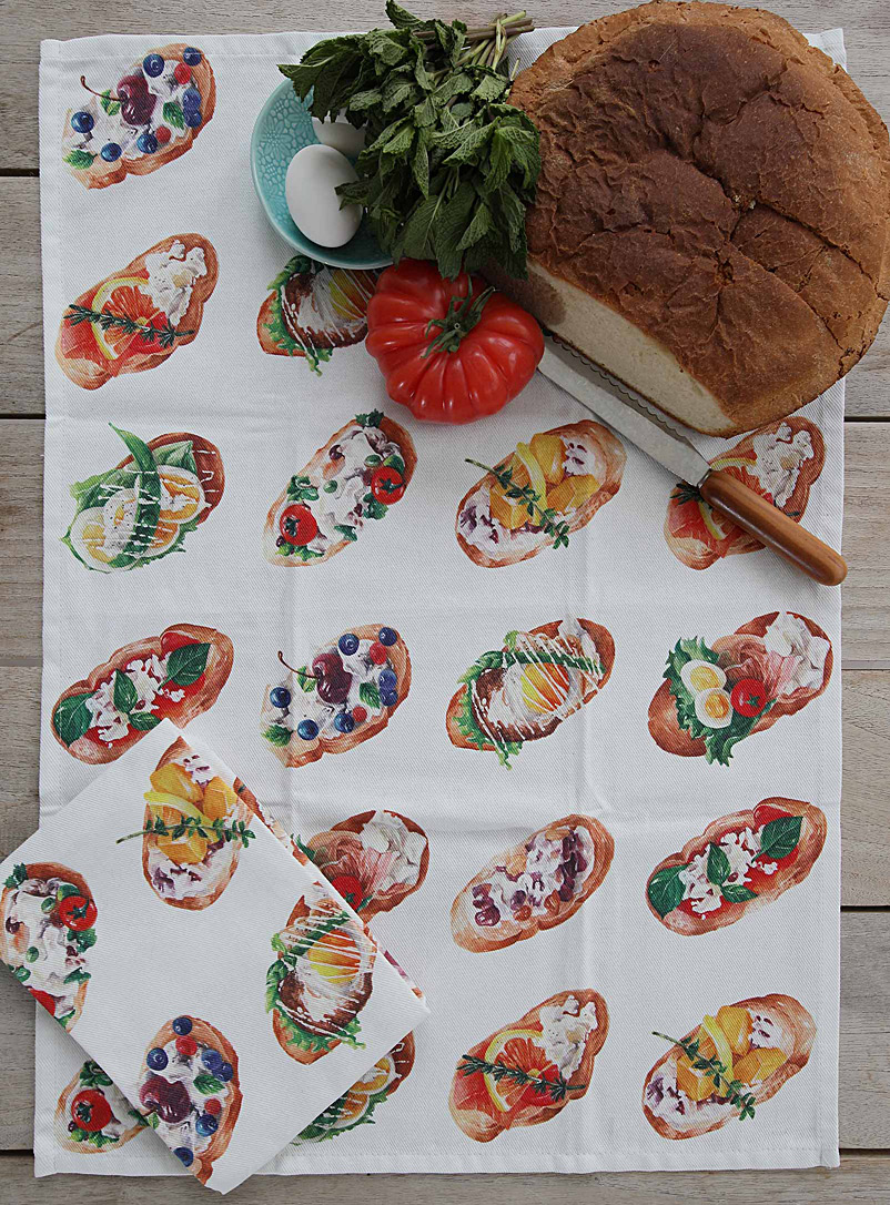 Maison Lorrain Assorted Gourmet toasts tea towel