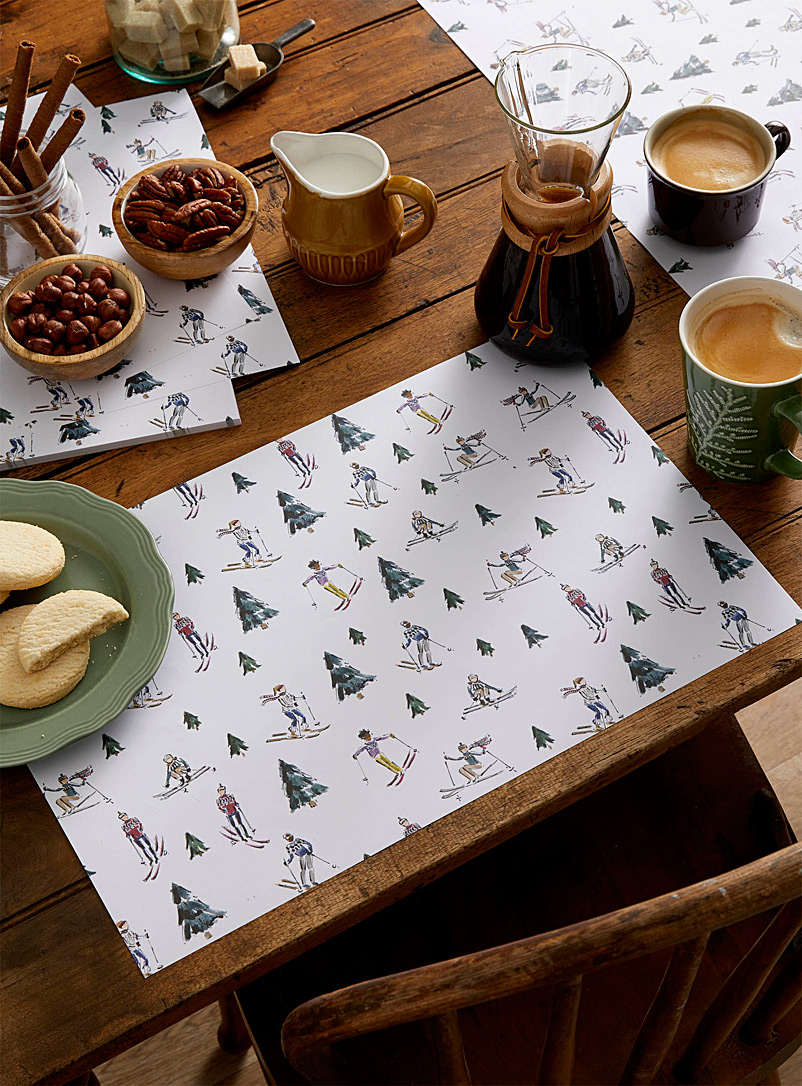 Maison Lorrain Assorted On the Slopes paper placemat pad  Set of 50