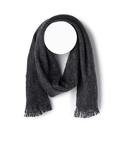 Solid mohair-blend scarf