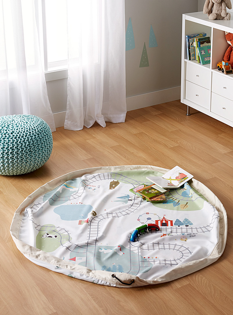 Play & Go Baby Blue Little train 2 in 1 play mat bag