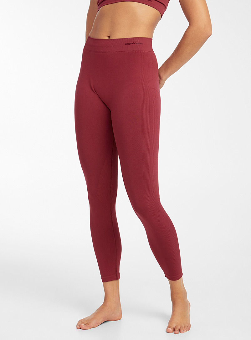 Organic Basics Red Recycled nylon athletic legging for women