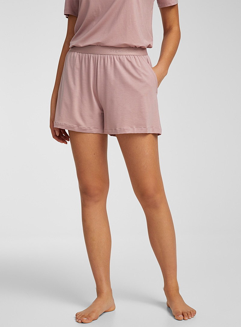 Organic Basics Pink Ultra soft lyocell boxer for women