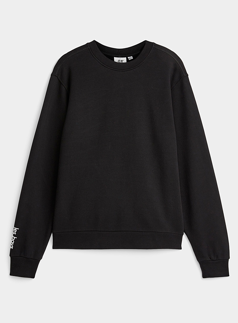Les girls les boys Black Monochrome lounge sweatshirt for women