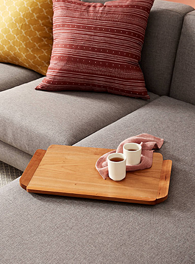 Heri Furniture Brown Clover small serving tray