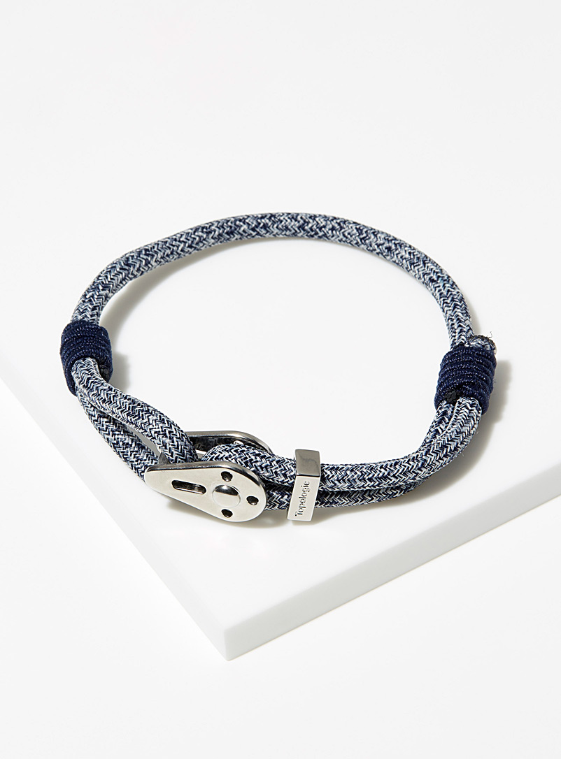 Yosemite heather blue and silver bracelet