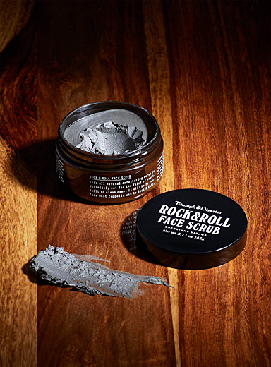 Triumph & Disaster Black Rock & Roll volcanic ash and green clay face scrub for men