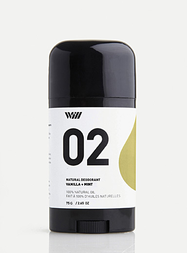 Way of Will Golden Yellow Vanilla and mint natural deodorant for men