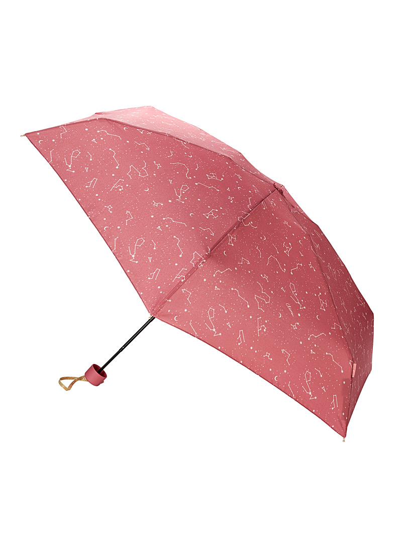 CLIMA bisetti Patterned Red Constellation umbrella for women