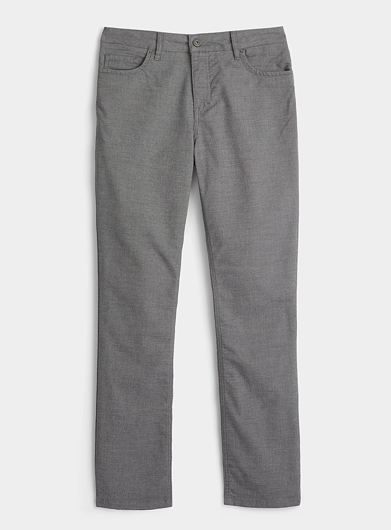 Le 31 Grey Two-tone piqué pant  London fit - Slim straight for men