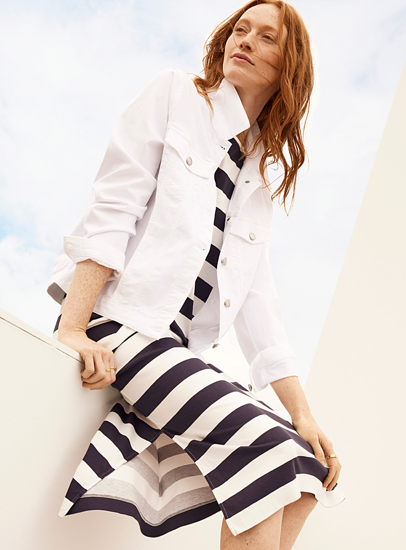 Contemporaine White Breathable twill jacket for women