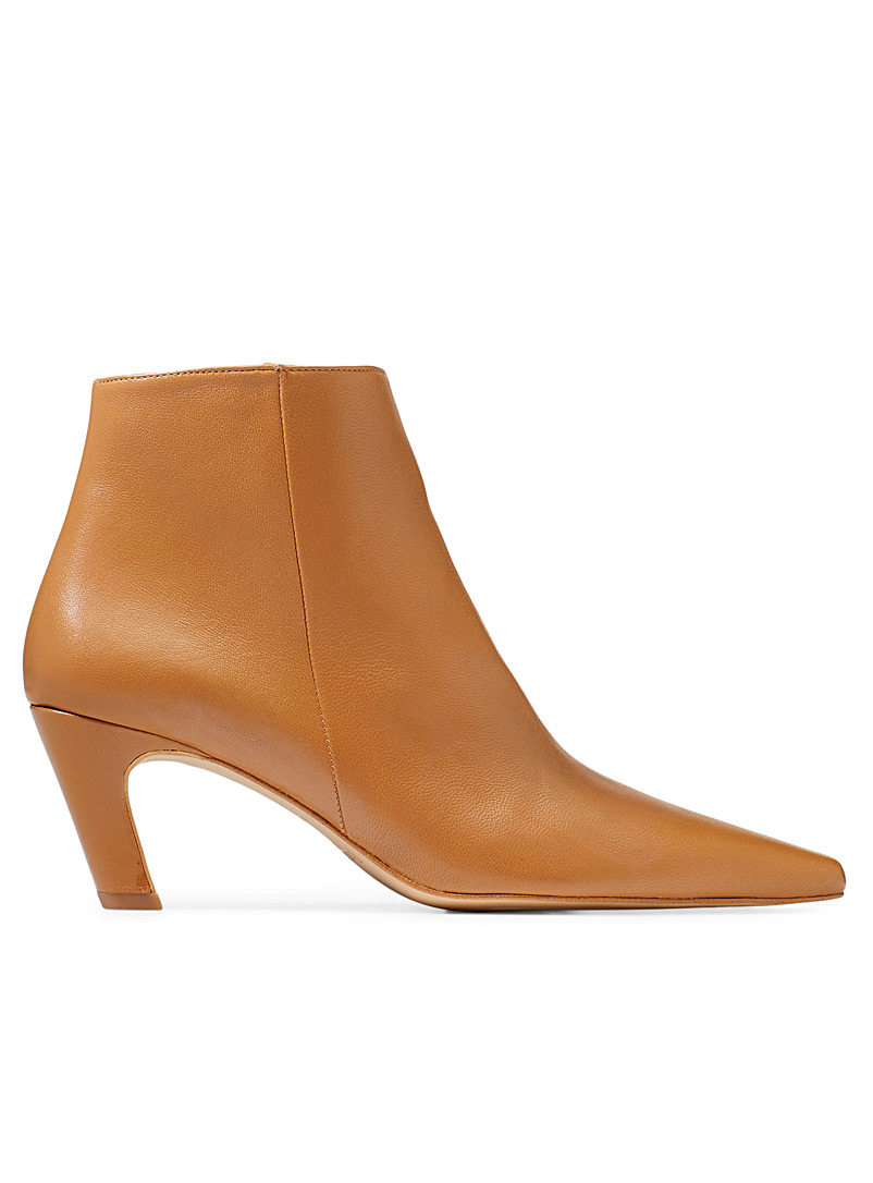 Flattered Cream Beige Xenia ankle boots for women