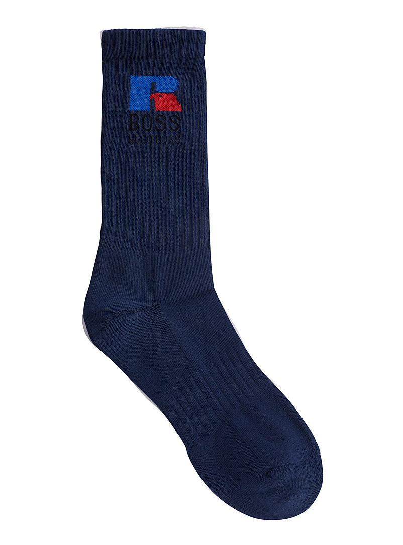 Boss x Russell Athletic Marine Blue BOSS x Russell Athletic socks for men