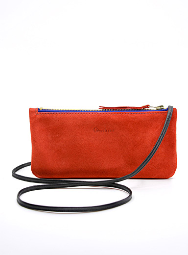 Milano mini suede shoulder bag