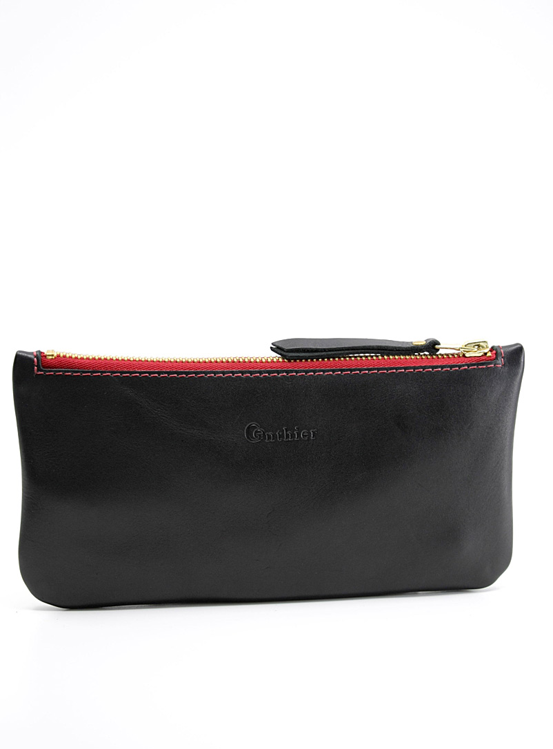 Gonthier Atelier Black Adèle leather clutch