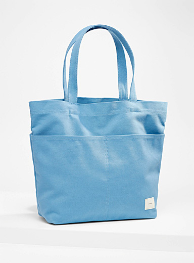 Canvas tote and clutch
