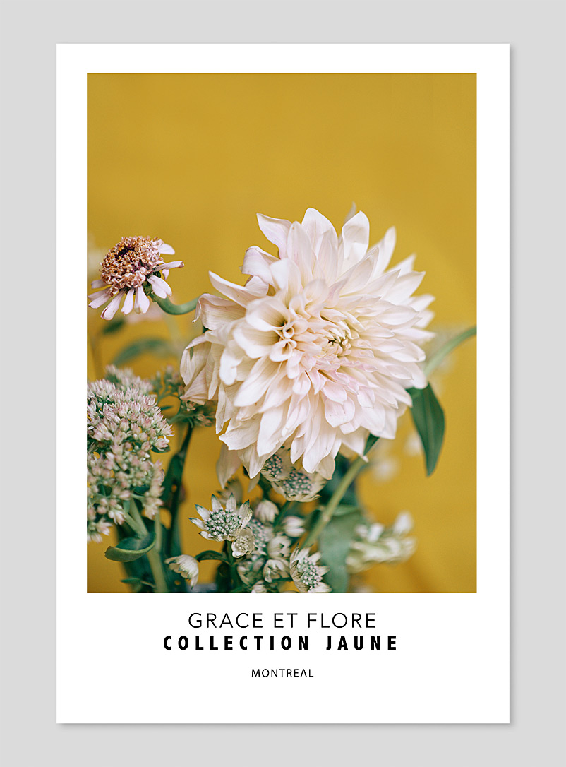 Grace et Flore: La photographie Jaune no 5  2 formats disponibles Jaune or