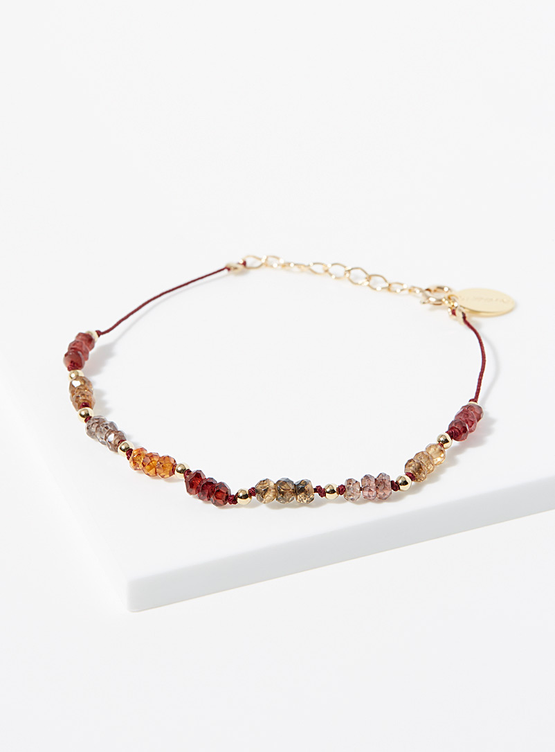 By Johanne Assorted Gold and brown bracelet for women