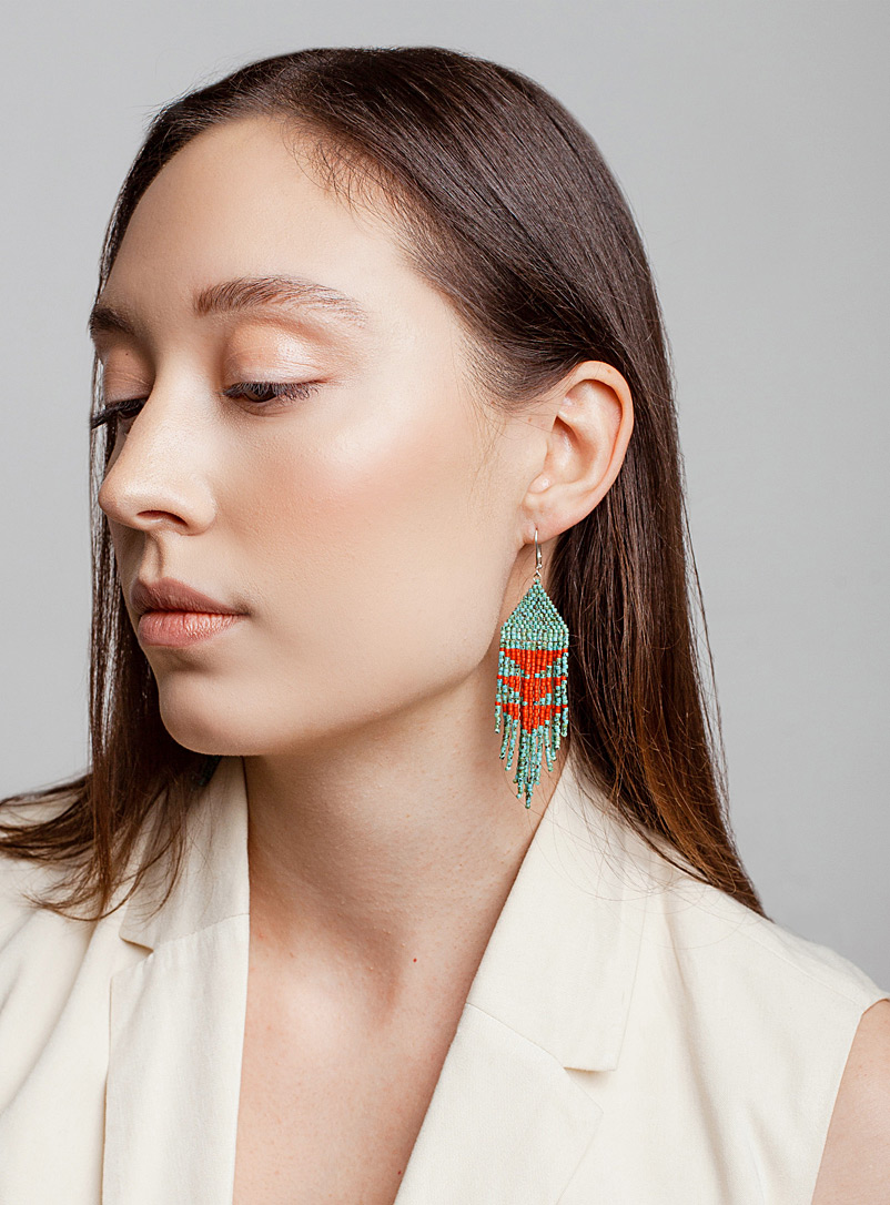 Three Sisters by Emma Teal Ocean Cedar earrings