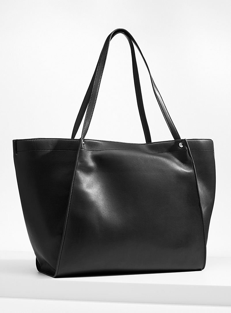 HVISK Black Boat tote for women