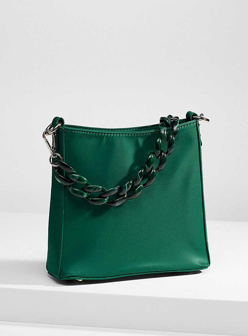HVISK Green Small satiny Amble bag for women