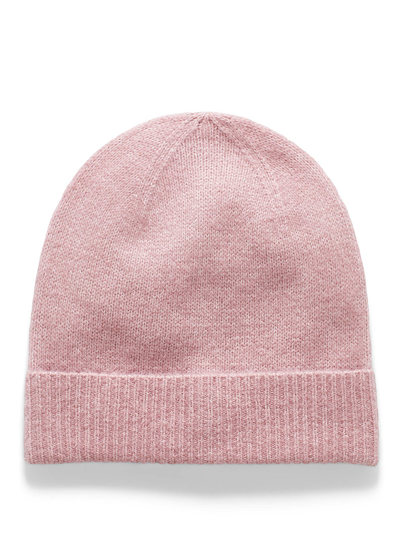 Simons Pink Minimalist recycled-fibre tuque for women