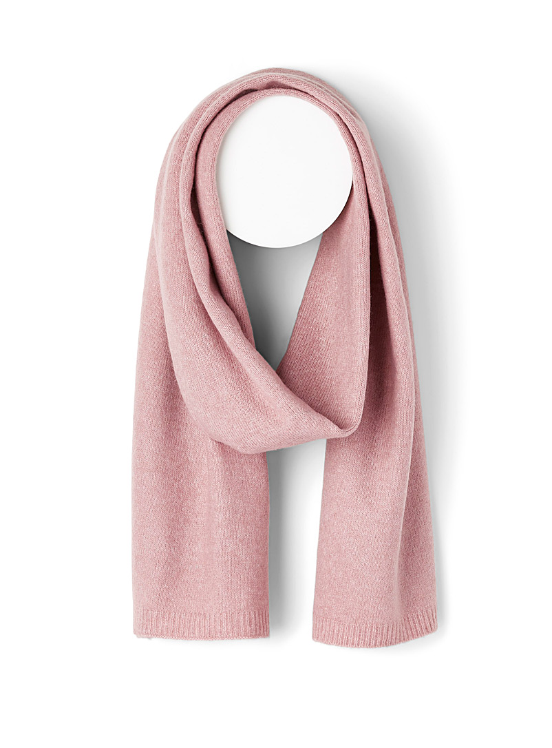 Simons Pink Recycled fibre minimalist scarf for women