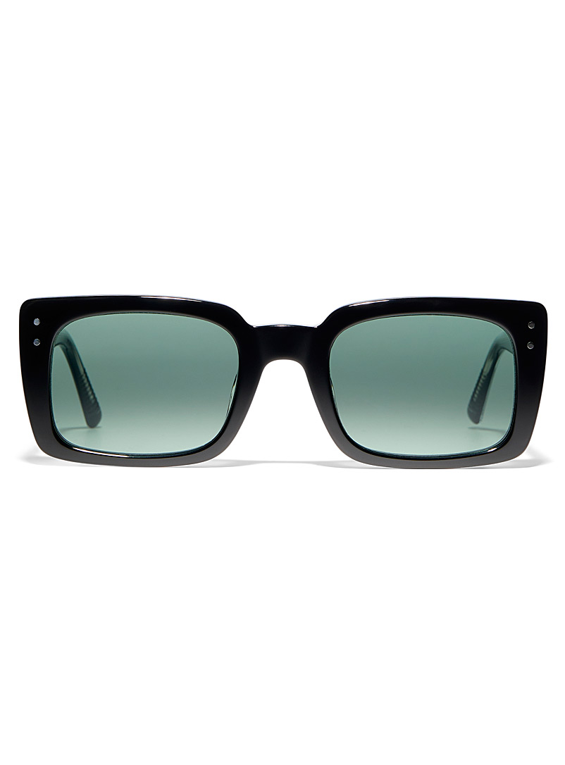 MESSY WEEKEND Black Anna rectangular sunglasses for women