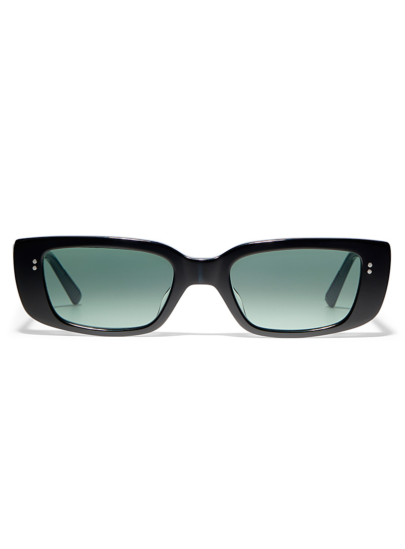 MESSY WEEKEND Black Grace rectangular sunglasses for women