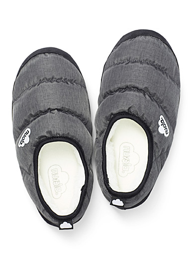 Clasica grey quilted slippers