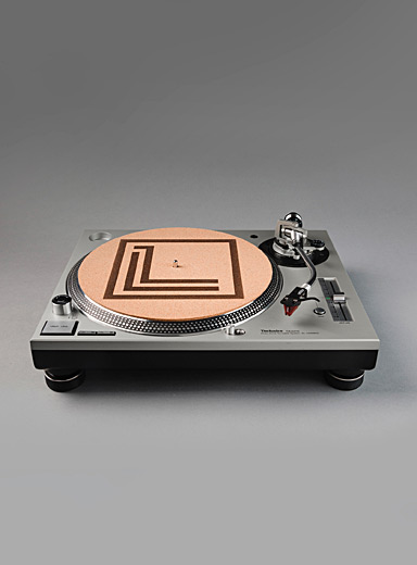 Logo cork vinyl turntable mat
