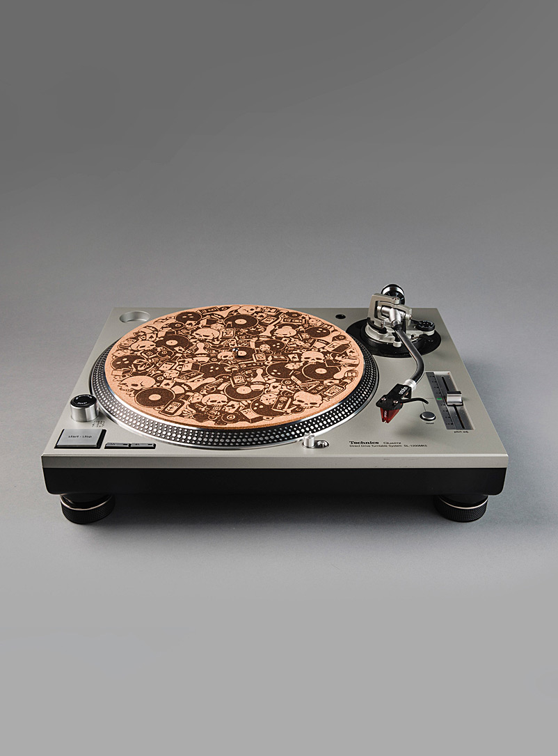 Le Needle Cork Bowling Madness cork vinyl turntable mat