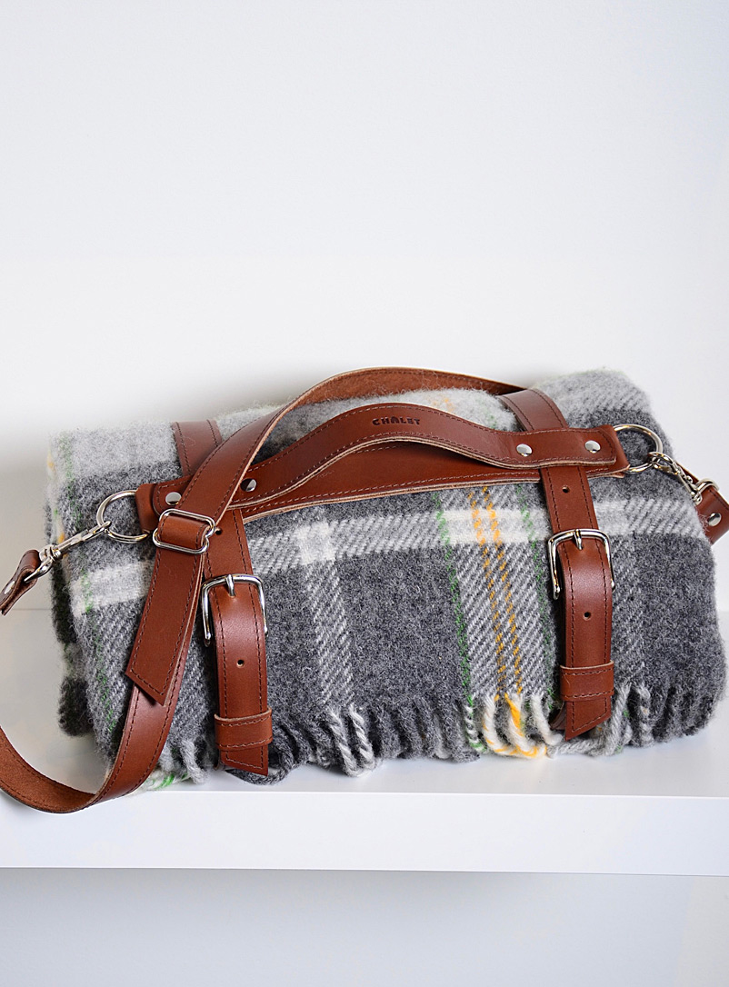 Atelier Chalet Brown Leather blanket carry strap