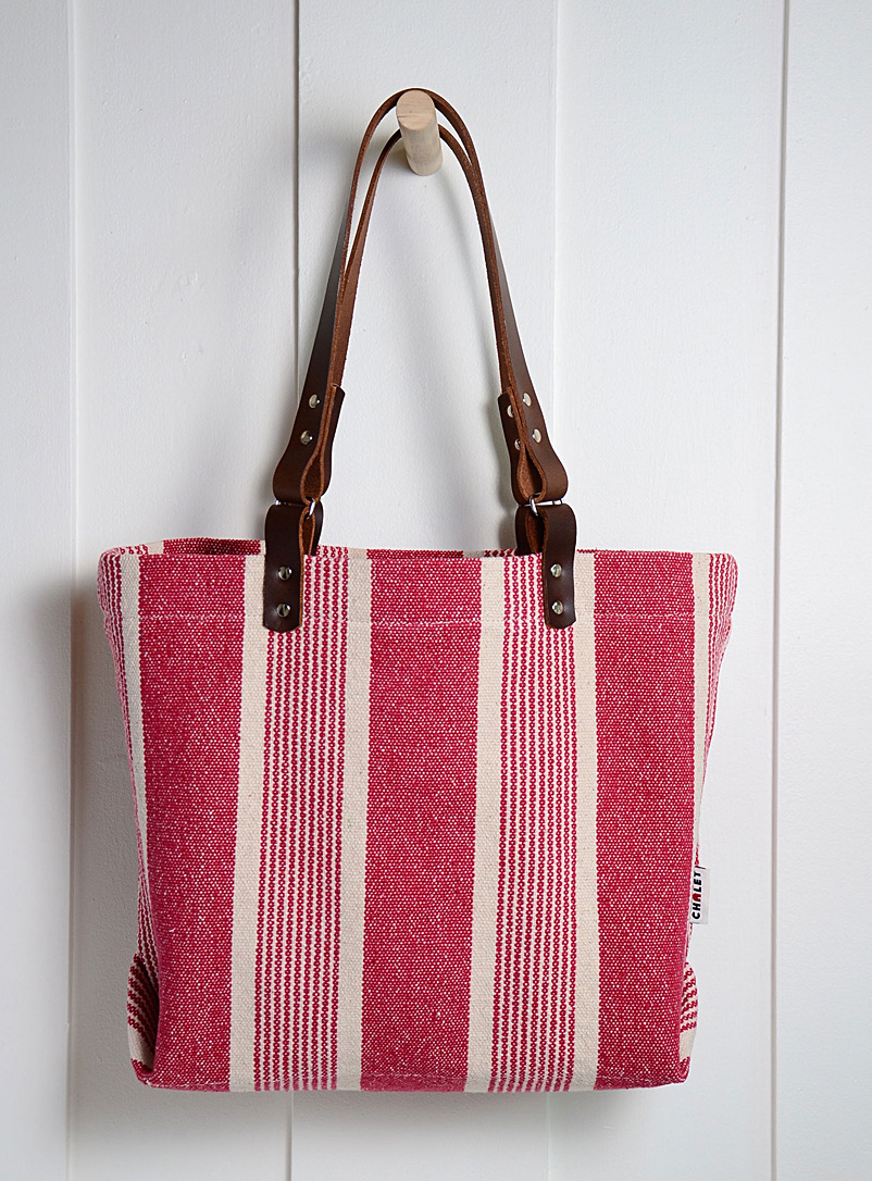 Atelier Chalet Red Boho stripe tote
