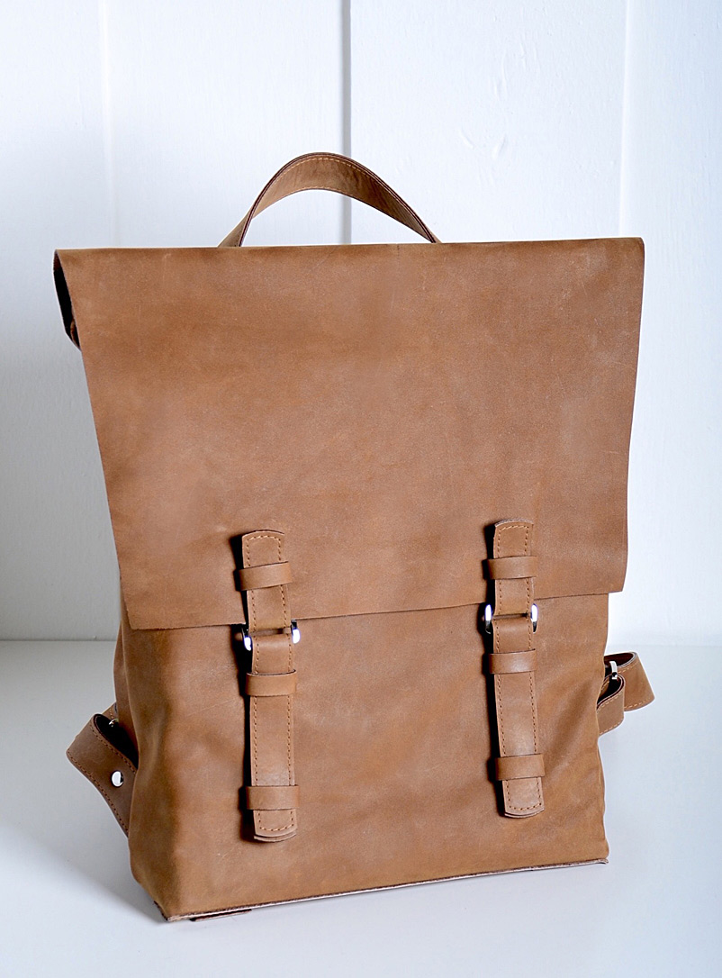 Lifestyle leather backpack