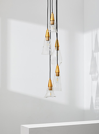Boutiverre Assorted Recycled blown glass cascading hanging lamps