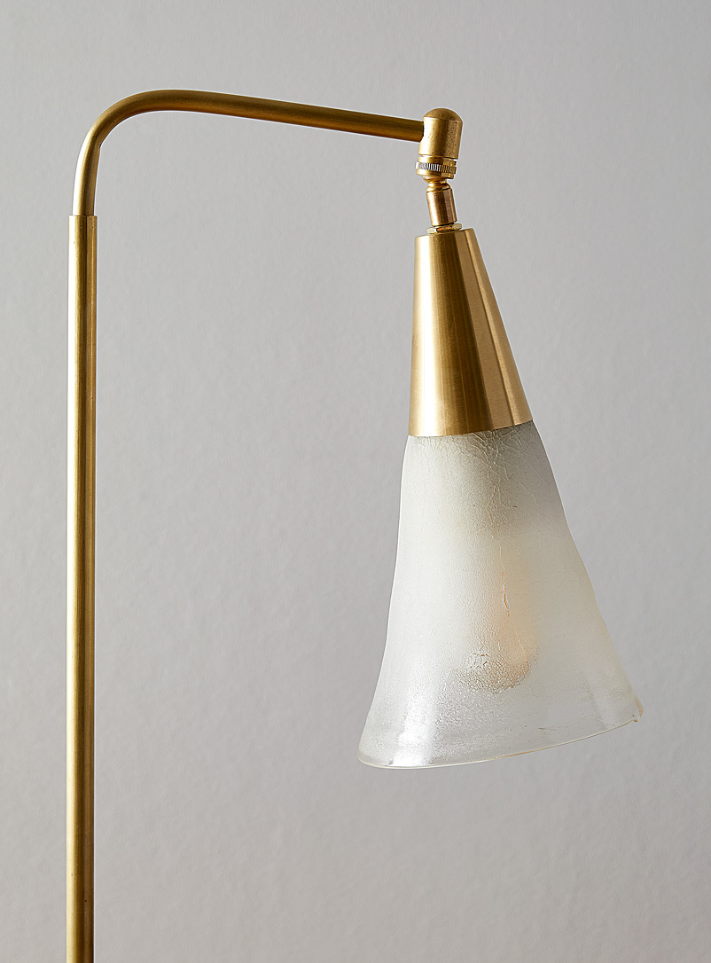 Boutiverre Assorted Latte cone granite-base recycled blown glass swivel table lamp