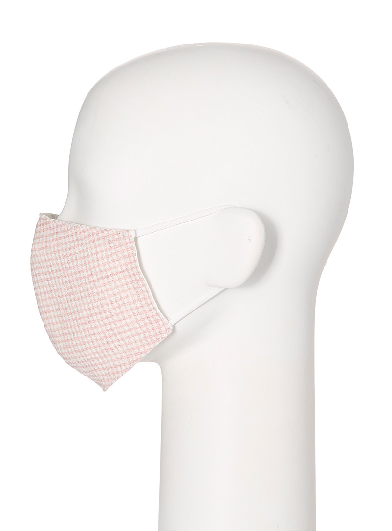 Simons Patterned Red Gingham fabric face mask for women