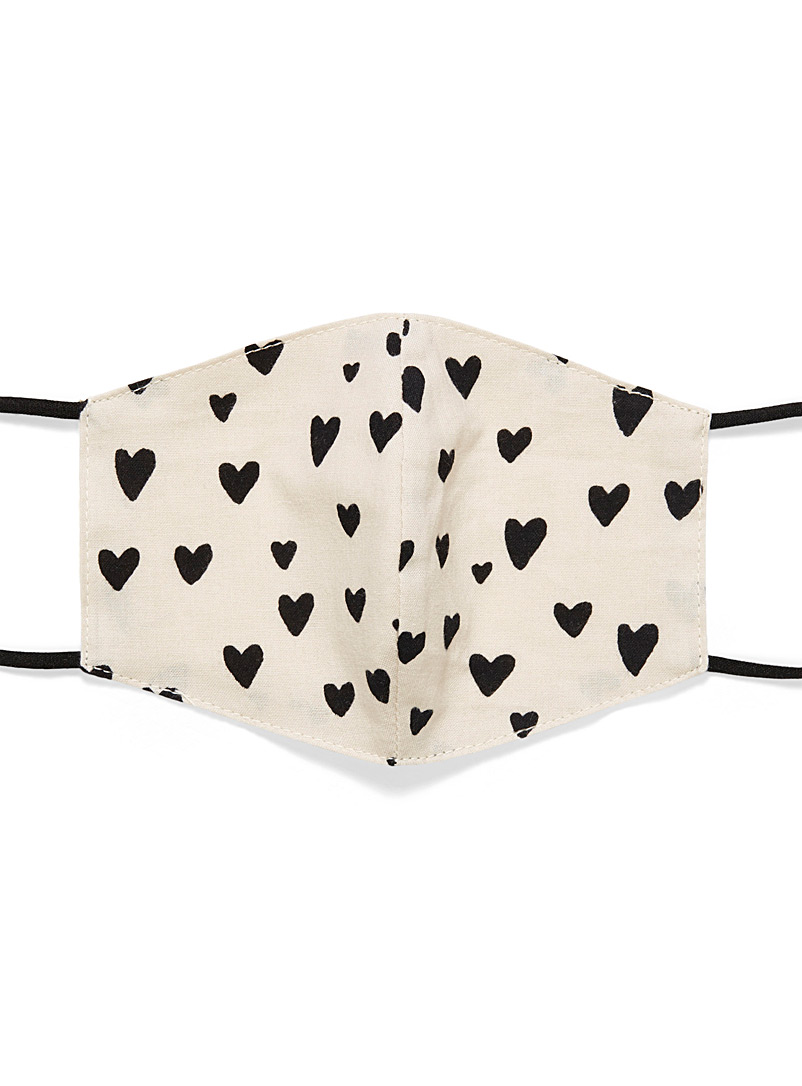 Small heart fabric mask  For children