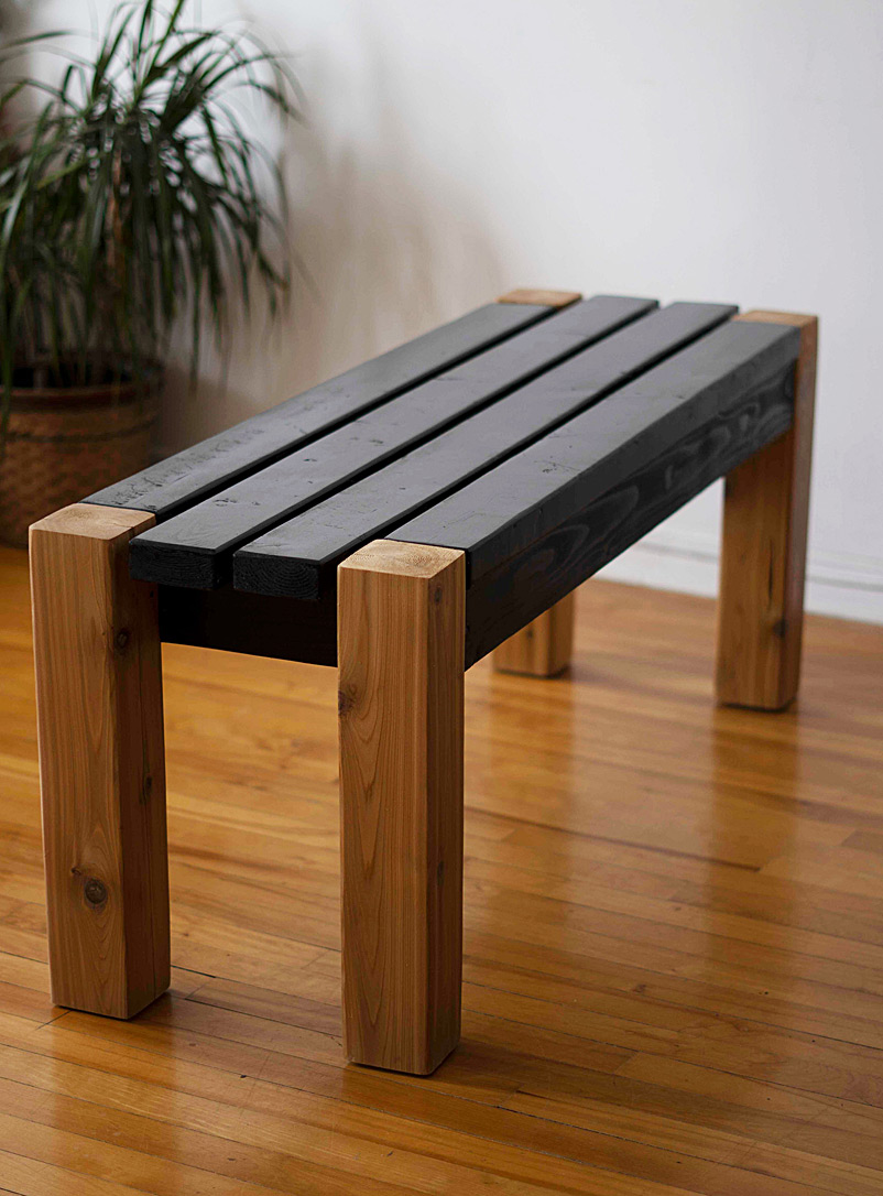 Benko Brown Primo two-tone wooden bench  2 sizes available