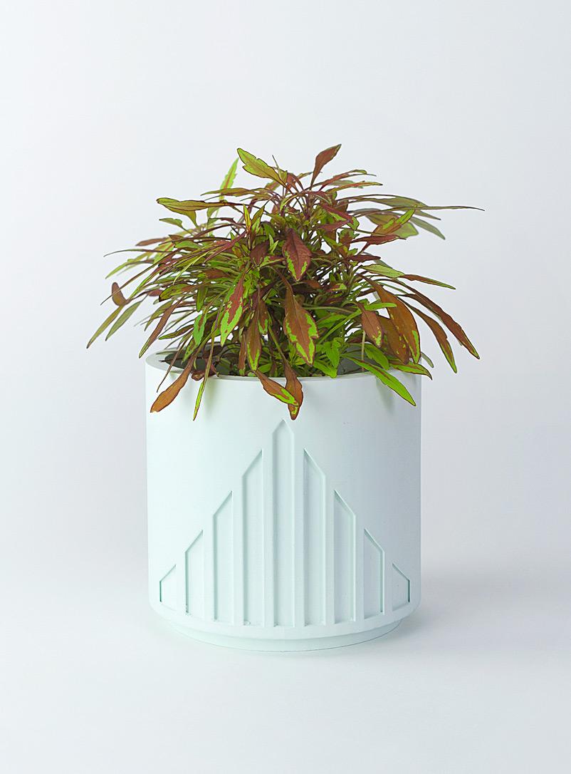 Collage Green Raw lines planter
