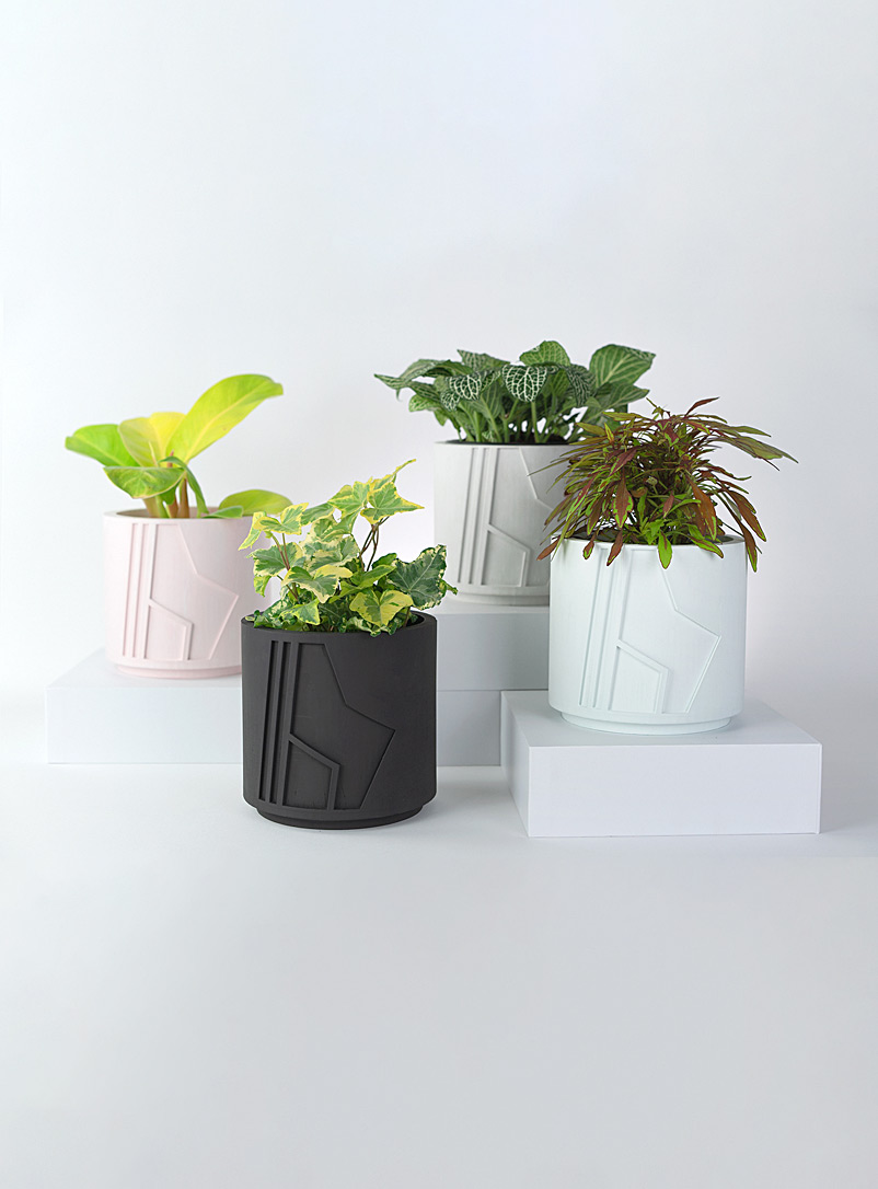 Collage Pink Raw asymmetry planter