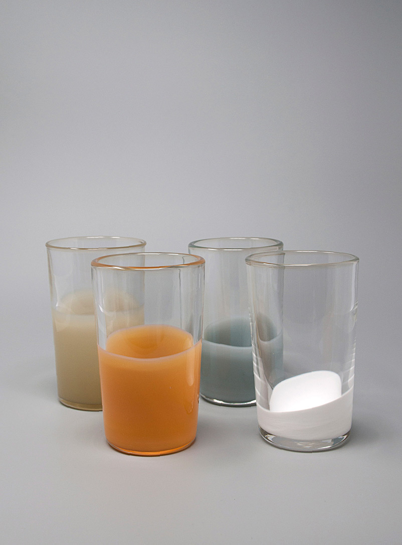 Bukurah Assorted Natural palette glasses  Set of 4