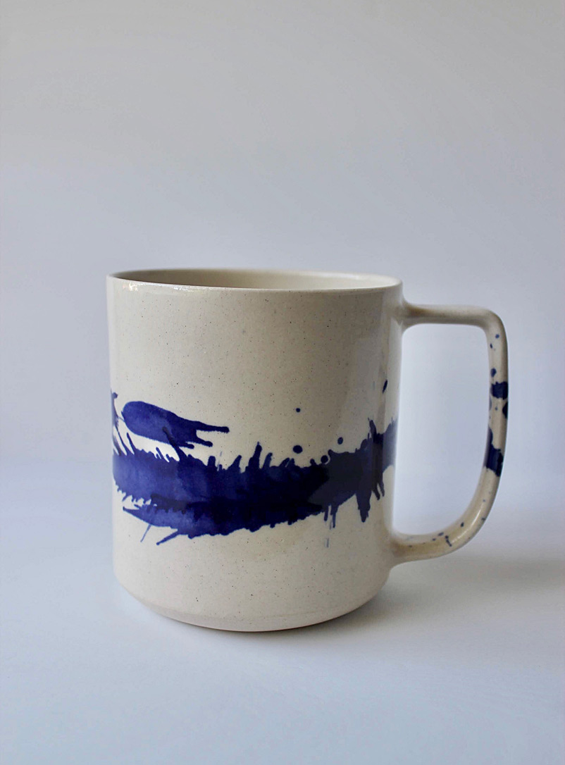 JAW Pottery Sapphire Blue Splash of joy stoneware mug