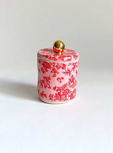 Life in pink small ceramic stash jar