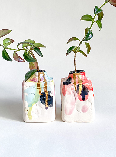 Wabi Sabi ceramic mini vase set  8 cm high