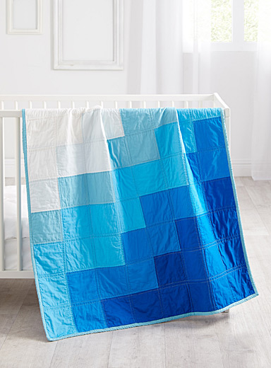 Stamp Stitch Create Assorted Ocean waves baby quilt