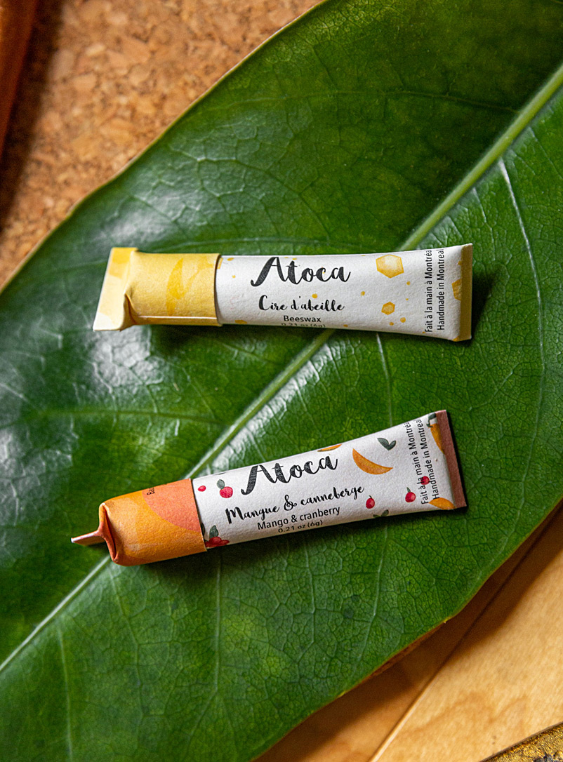Atoca Assorted Set of 4 compostable lip balms
