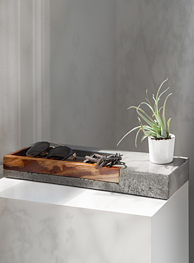 Arizona wood and concrete tray