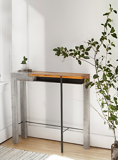 Maya industrial console table